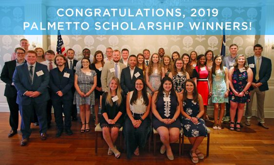 Congratulations, 2019 Palmetto Scholarship Winners!
