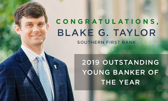 Congratulations, Blake Taylor, winner of the 2019 Outstanding Young Banker Award